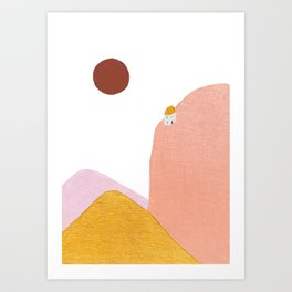 Mighty Mountain Cabin Art Print