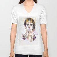 lana V-neck T-shirts featuring Lana by Kim Maria Morrow