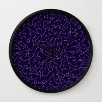 astrology Wall Clocks featuring Astrology by Dani Aviles