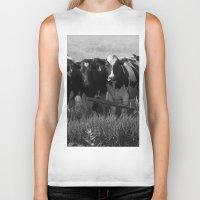 cows Biker Tanks featuring Cows by Julie Luke