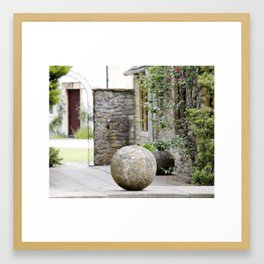 English Garden - Stone Ball Framed Art Print