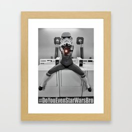Make My Day Framed Art Print