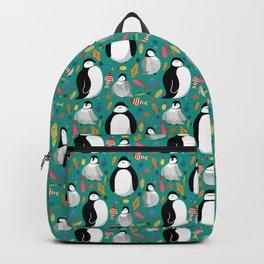 Penguin pattern green Backpack
