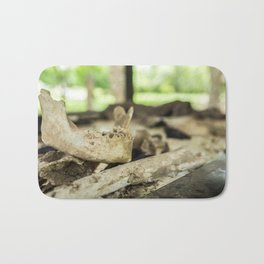 Skeletal Remains, Killing Fields, Cambodia Bath Mat