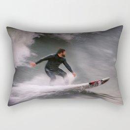 Surfer riding a wave Rectangular Pillow