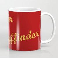 gryffindor Mugs featuring One word - Gryffindor by husavendaczek