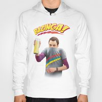 bazinga Hoodies featuring Sheldon  - BAZINGA! by ShannonPosedenti