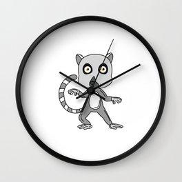 Unique & Funny Ringtail Cat Tshirt Design Mascot Design Wall Clock