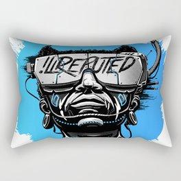 Dreaming Digital - Blue Rectangular Pillow