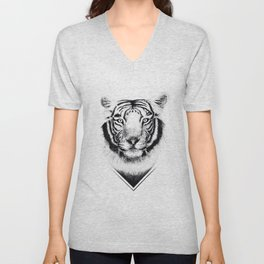 Confused Tiger Unisex V-Neck