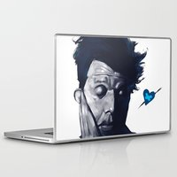tom waits Laptop & iPad Skins featuring Tom Waits - Blue Valentines by Brad Collins Art & Illustration