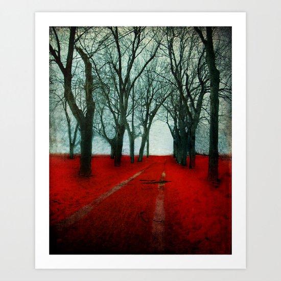 The Crimson Forest Art Print