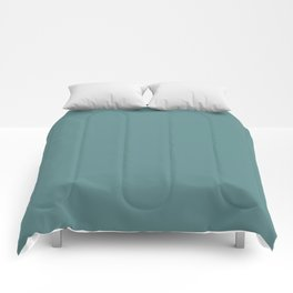 Steel Teal - solid color Comforters