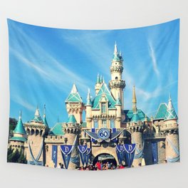 Sleeping Beauty Castle 60th Anniversary Wall Tapestry