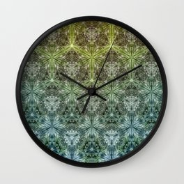 Forest Lake. sacred geometry. seamless pattern Wall Clock