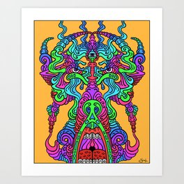 The All-Seeing Minotaur Art Print