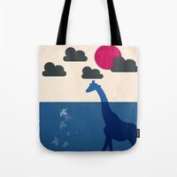 africa Tote Bags featuring Africa by Mehdi Elkorchi