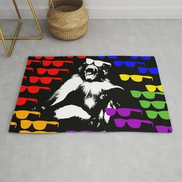 Wild Monkey Sun glass Pattern Rug
