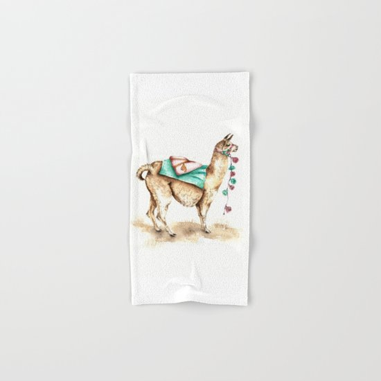 Watercolor Llama Hand & Bath Towel