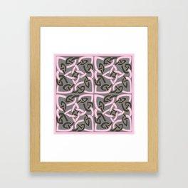 PINK & GREY CELTIC INTER-LOCKING PATTERNS Framed Art Print