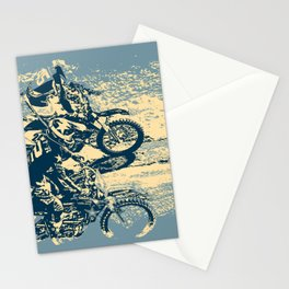 Dirt Track - Motocross Racing Stationery Cards