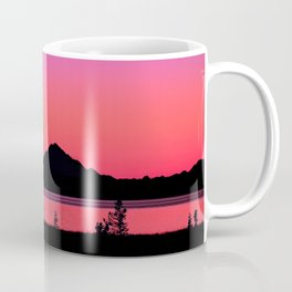 Pink Sunset Silhouette - Mt. Redoubt, Alaska Coffee Mug