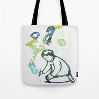writing Tote Bags featuring writing by valentina biletta