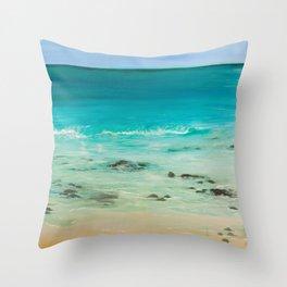 Nannas Beach Throw Pillow