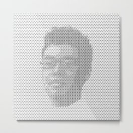 Tessellated Portraits - A.T. Metal Print