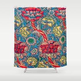 12,000pixel-500dpi - William Morris - Wandle - Digital Remastered Edition Shower Curtain