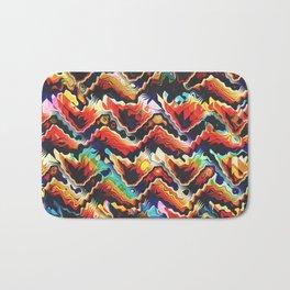 Colorful Geometric Motif Bath Mat