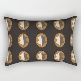 Leaf on Butterscotch Crosshatch Rectangular Pillow