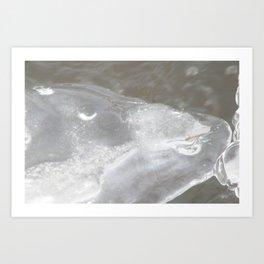 Icy Kiss Art Print