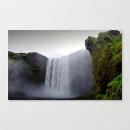 skogafoss waterfall, iceland. Canvas Print