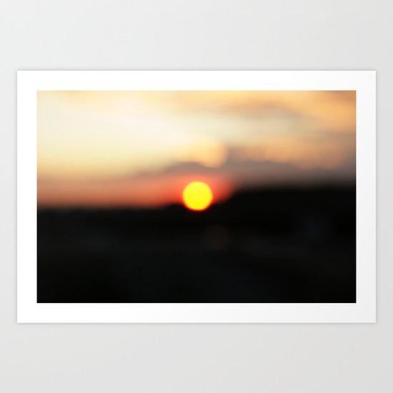 It was all a blur Art Print