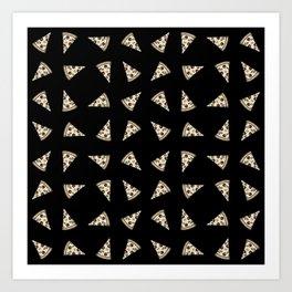SLICES OF PIZZA Art Print