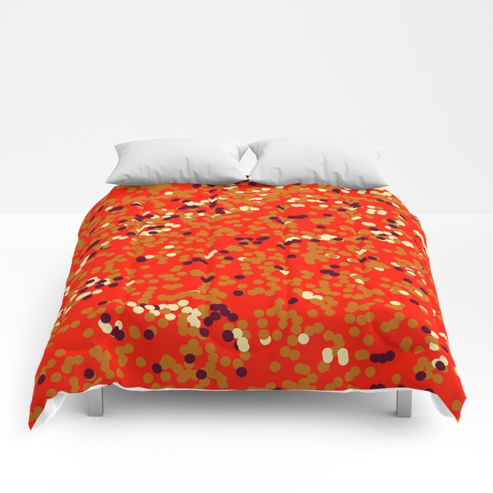 dots on red Comforters