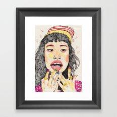 girl7 Framed Art Print