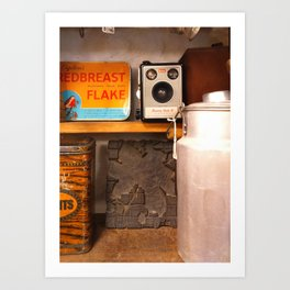 Breakfast cereals with a Brownie camera Art Print
