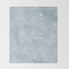 distressed chambray denim Throw Blanket
