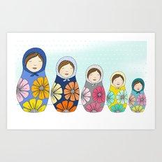 More Matryoshkas Art Print