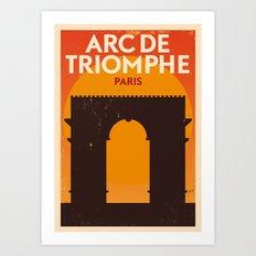 Paris City Retro Poster Art Print