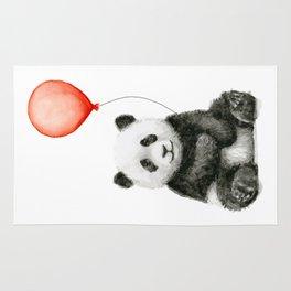 Baby Panda and Red Balloon Rug