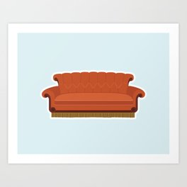 Couch Central Perk Art Print