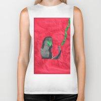 cigarettes Biker Tanks featuring Watermelon Cigarettes by Alicia Ortiz