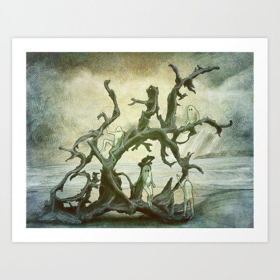 Spirits of the Driftwood Art Print