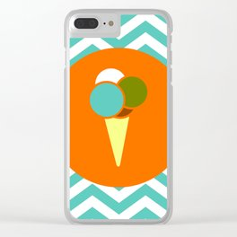 Ice Cream Cone - Cute Summer Accessories Collection Clear iPhone Case
