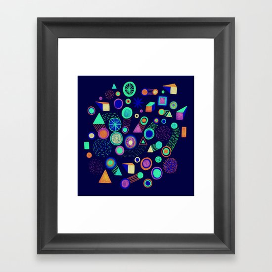 Galaxies II Framed Art Print