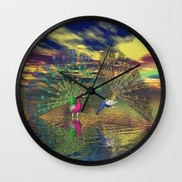 Pfauenpaar Wall Clock