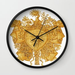 Golden Arms of the Chevalier d'Orléans Wall Clock